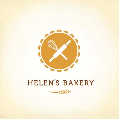 Helen 180 S Bakery Logo Design Gallery Inspiration Logomix